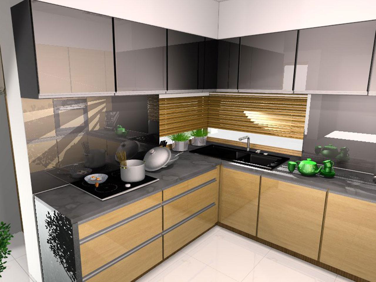 Kuchnia W Odcieniu Szarosci Z Akcentem Koloru Drewna Mobiliani