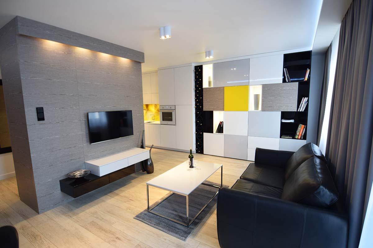 Projekt wnętrza mieszkania pokazowego autorstwa architektów Mobiliani Design