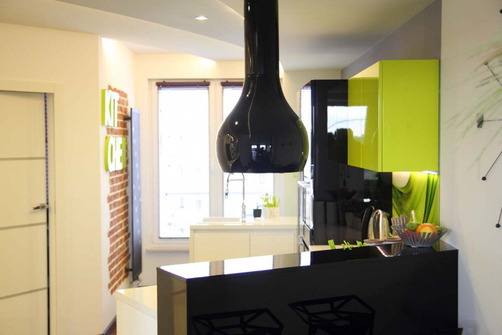 Meble kuchenne w bydgoskim apartamencie ZEN