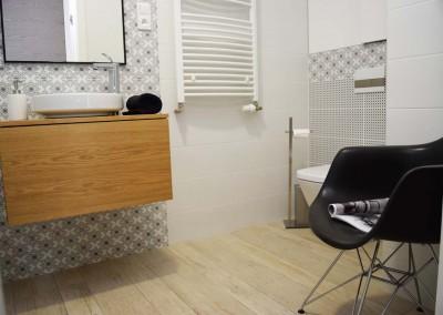 Łazienka w mieszkaniu pokazowym