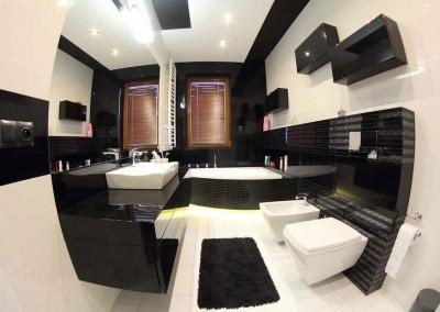 Meble łazienkowe w klasycznej czerni