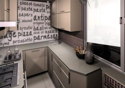 Minimalistyczna kuchnia w beżu