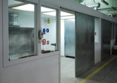 Widok na kokpit w zakładzie produkcynym