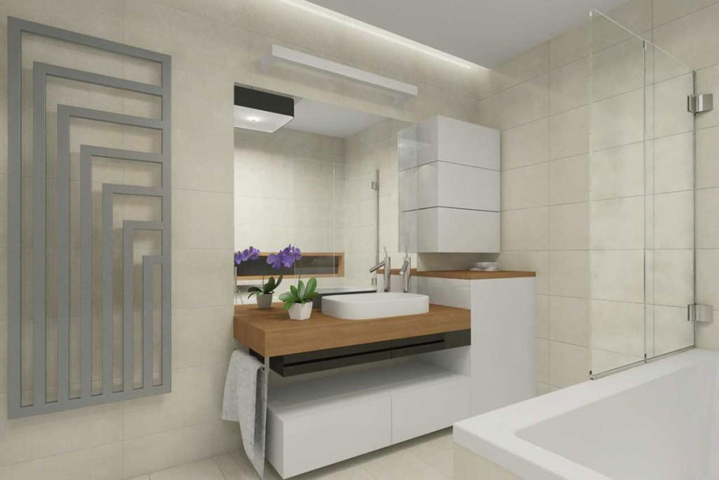 Łazienka z przewagą bieli