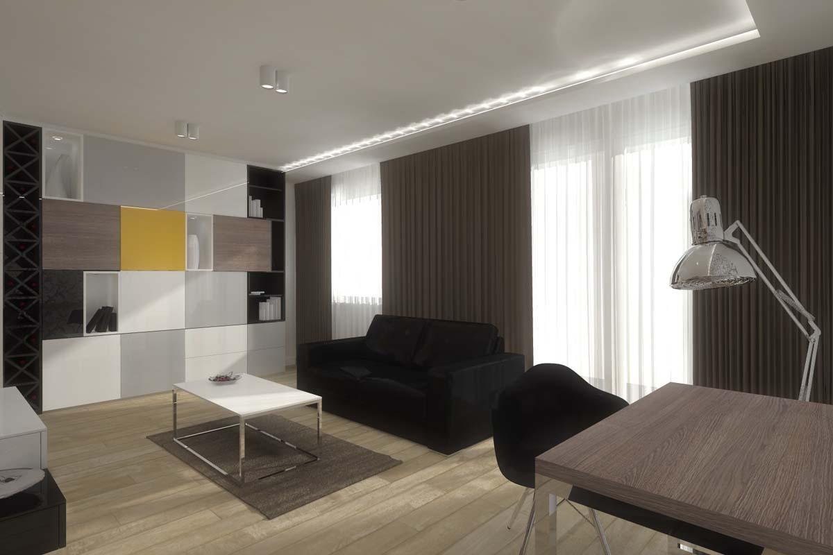 Projektowanie wnętrz mieszkania pokazowego w Bydgoszczy