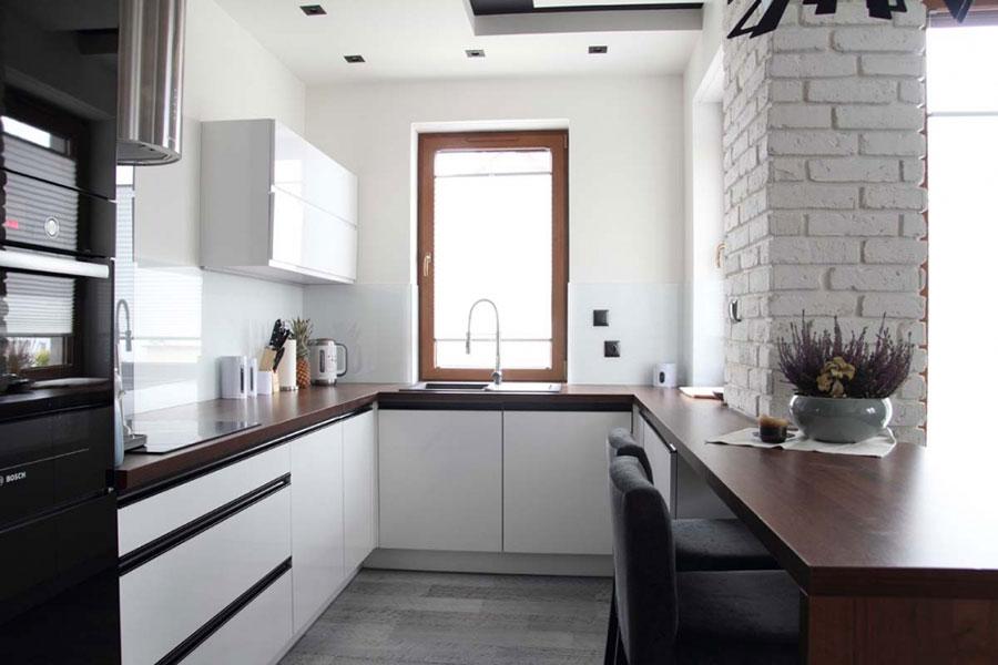 Projektujemy małą kuchnię z wykorzystaniem mebli   -> Kuchnie Nowoczesne Male W Bloku