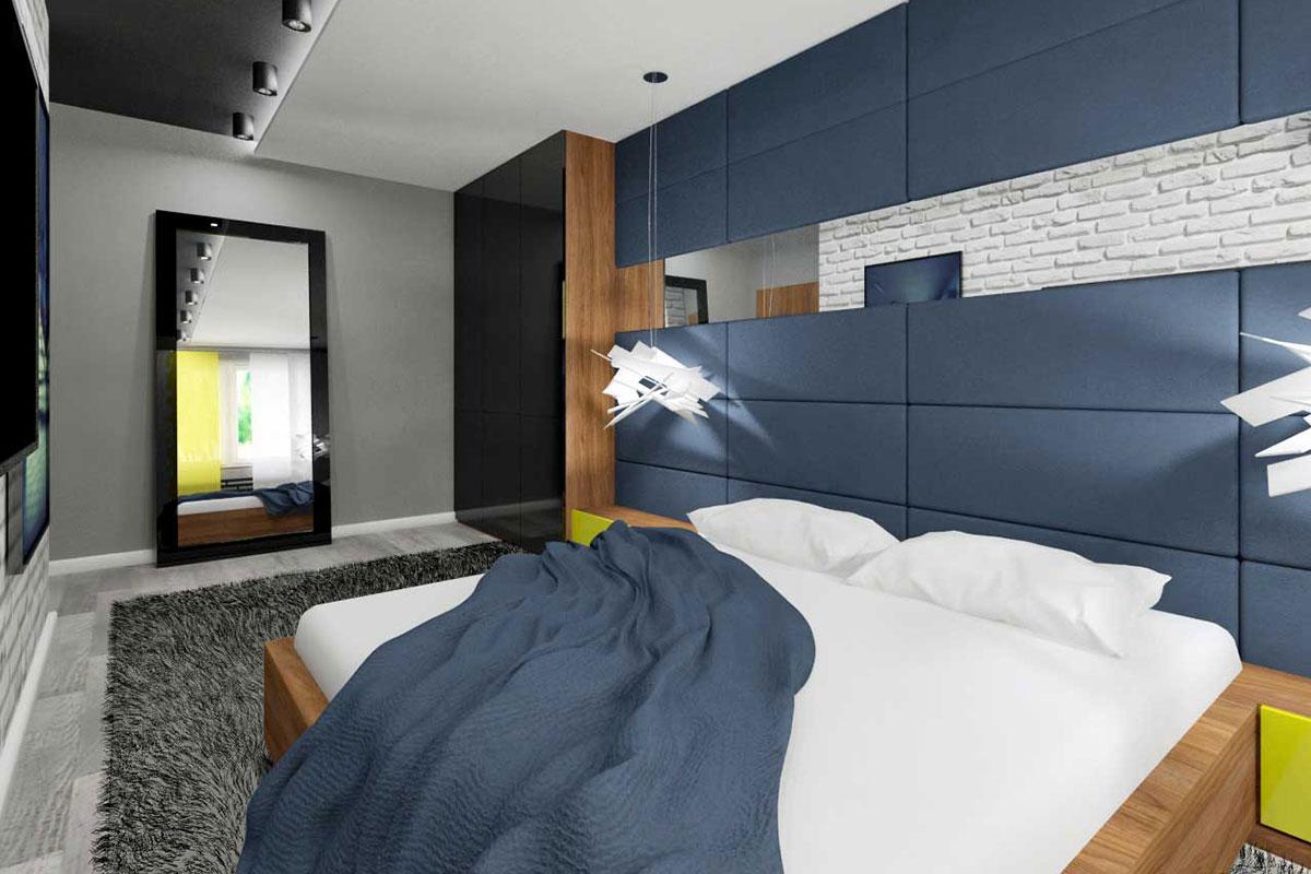 sypialnia wype�niona barw� drewna mobiliani bydgoszcz