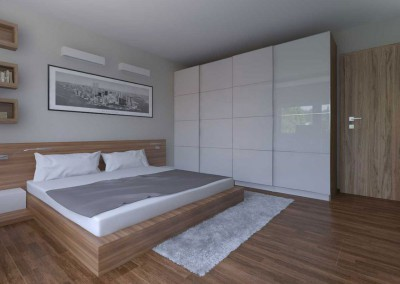 Sypialnia wypełniona barwą drewna