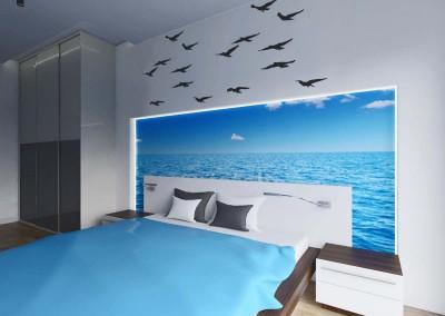 Sypialnia z morskim akcentem