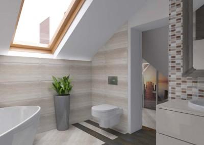 Klasyczna łazienka w delikatnym beżu i bieli