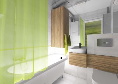 Łazienka z akcentem żywej zieleni