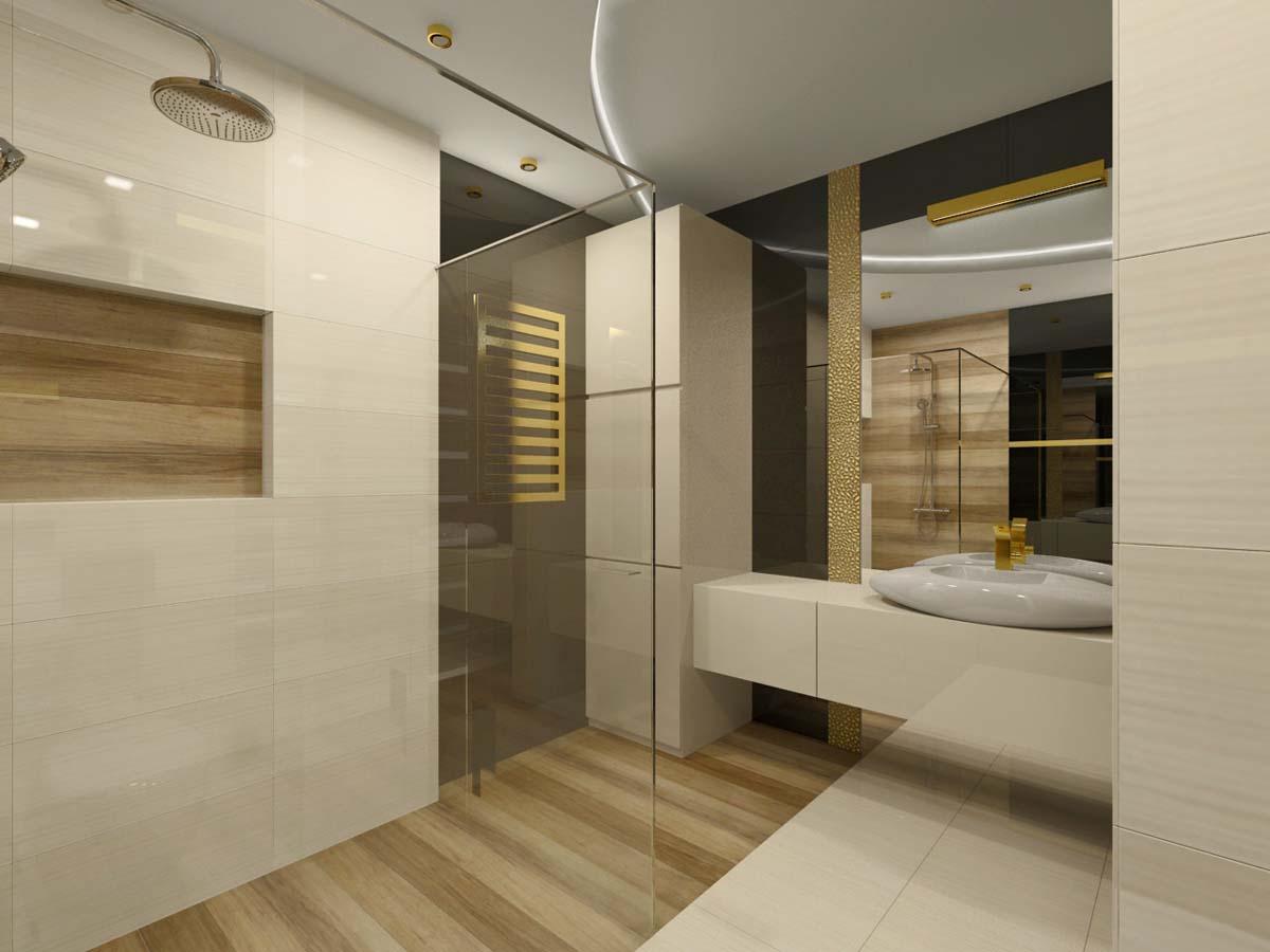 Luksusowa łazienka W Kremowej Bieli I Brązie Mobiliani