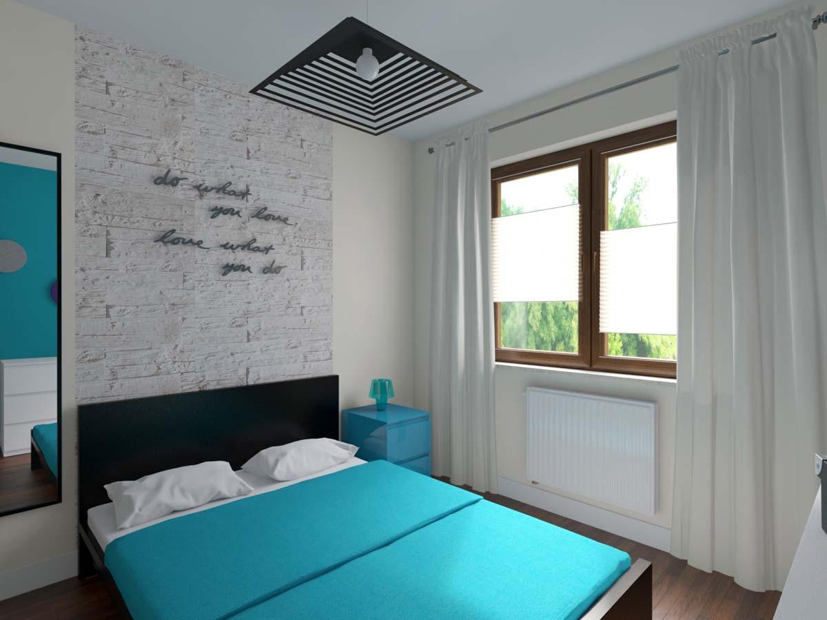 Sypialnia W Błękicie Z Bielą Mobiliani Bydgoszcz