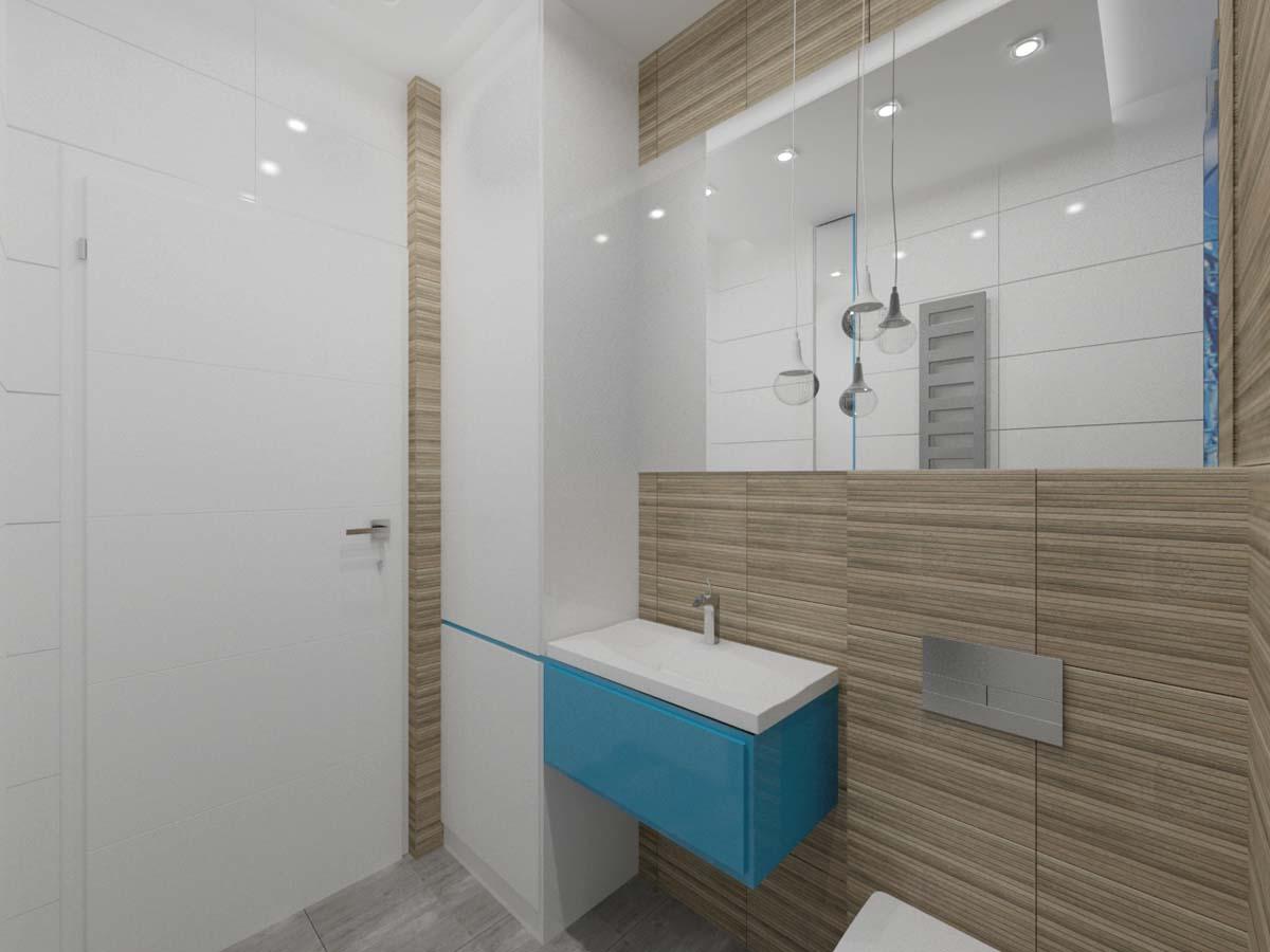 łazienka W Kolorze Drewna I Błękitu Mobiliani Bydgoszcz