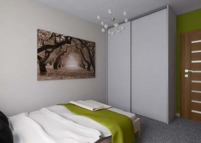Sypialnia w kolorze wiosny