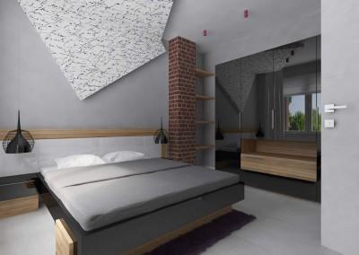 Nowoczesna sypialnia w delikatnej szarości