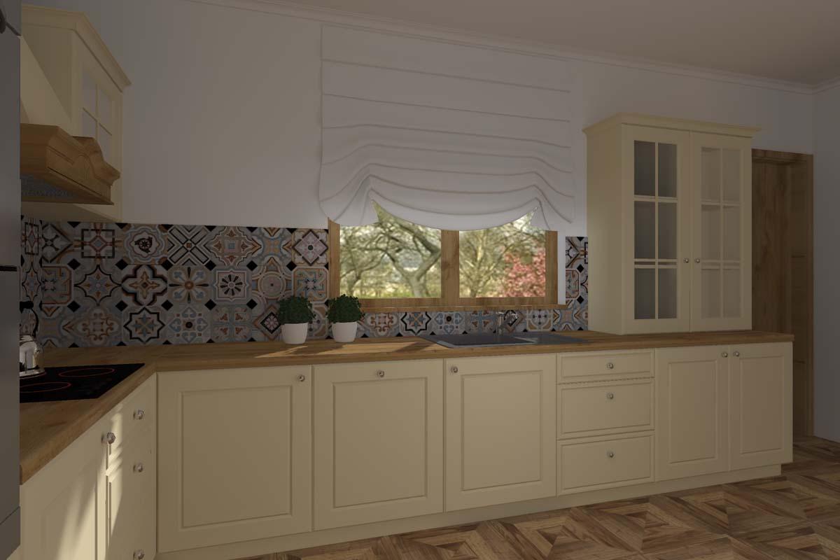 Projekt kuchni w klasycznym stylu w neutralnej kolorystyce  Mobiliani Bydgoszcz -> Kuchnia Kremowa Klasyczna