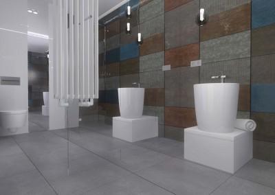 Projekt łazienki w morskim apartamencie