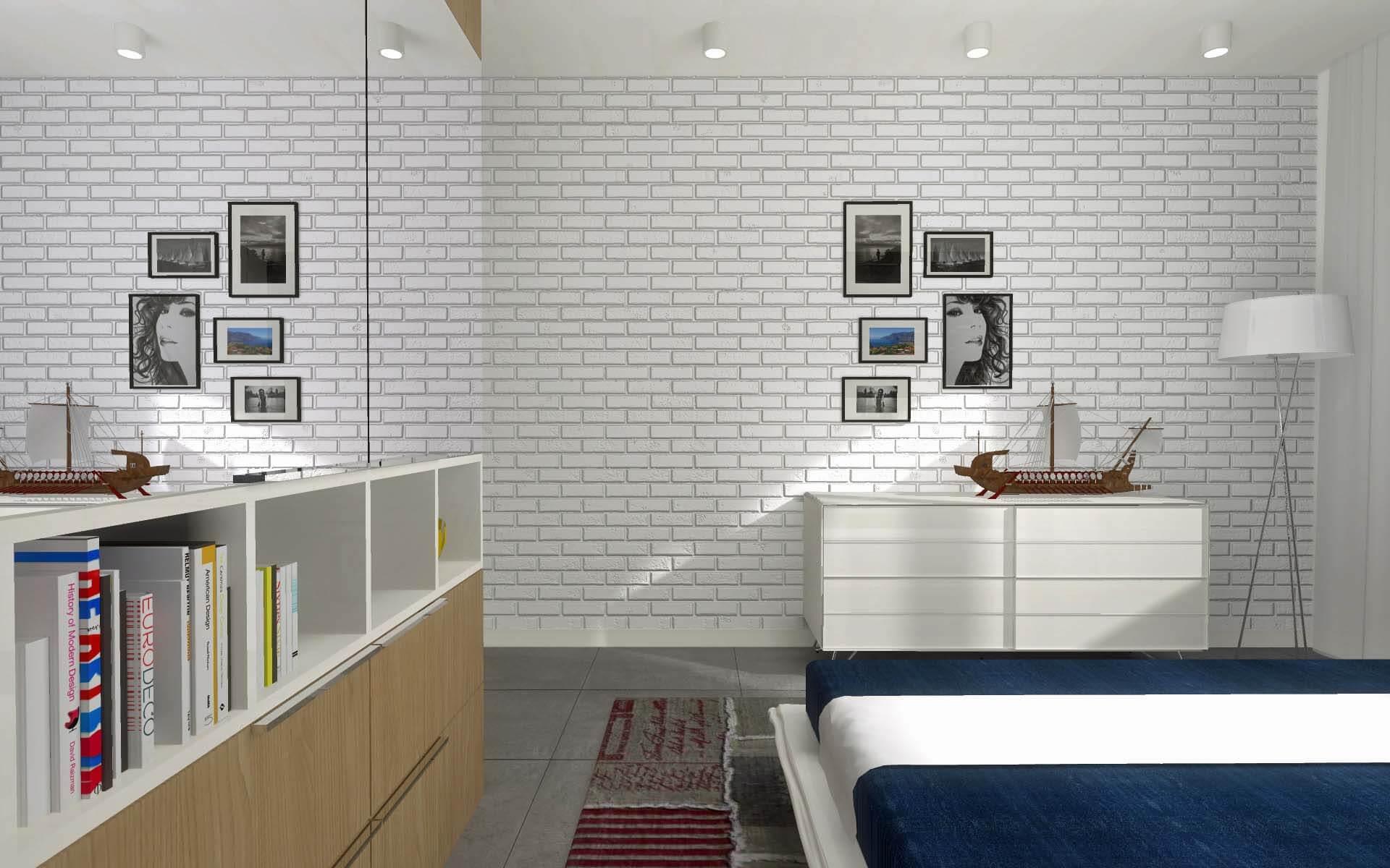 Sypialnia w apartamencie o morskim zabarwieniu - Mobiliani Bydgoszcz