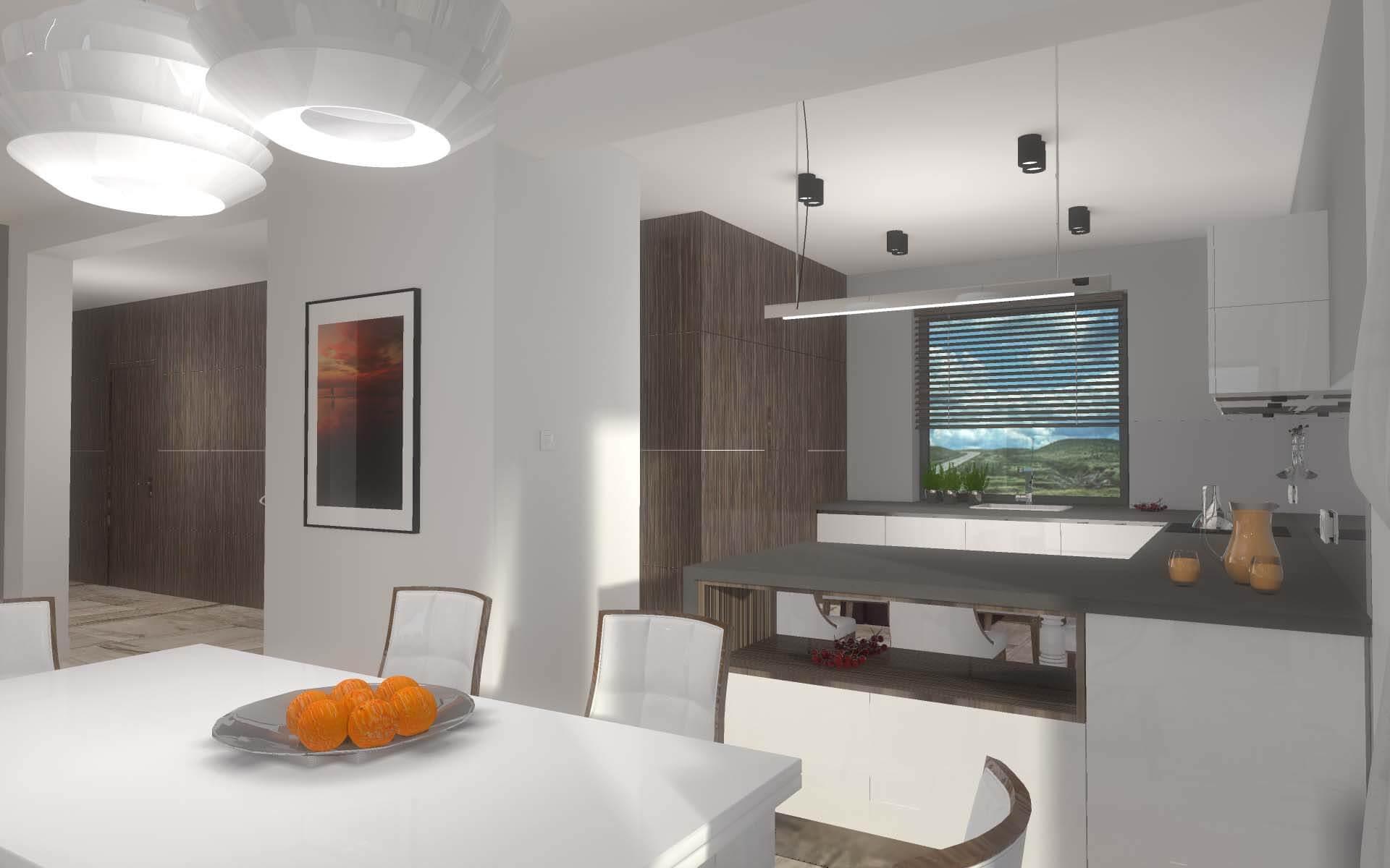 Projekt eleganckiej kuchni otwartej na salon mobiliani for Projekty kuchni z salonem