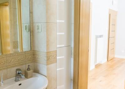 Meble łazienkowe w domu jednorodzinnym w Bydgoszczy
