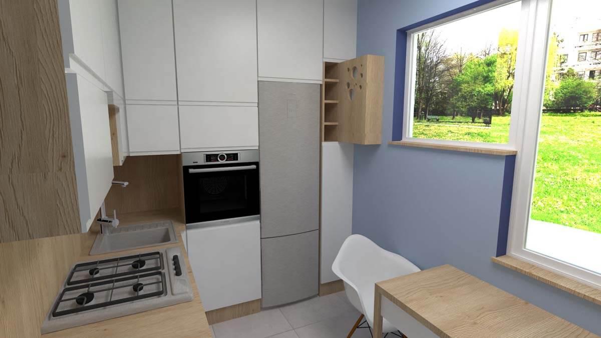 Projekt kuchni Blue Design - Mobiliani Bydgoszcz