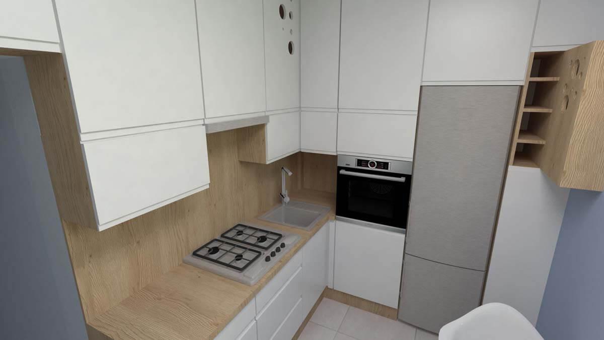 Projekt kuchni Blue Design  Mobiliani Bydgoszcz -> Projekt Kuchni Duzej